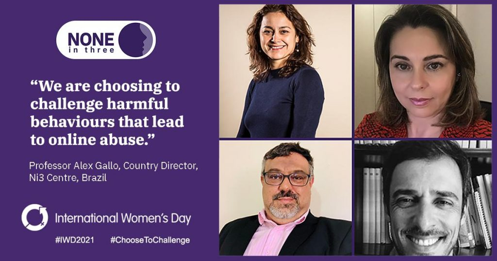 Image in support of International Women's Day 2021 by members of the NI3 Brazil team